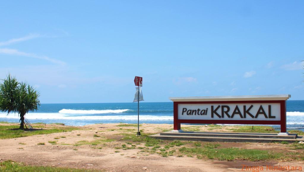 Suasana Keindahan Pantai Klakar, Gunung Kidul, Yogyakarta