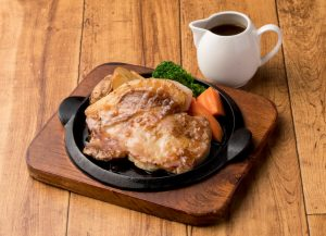 Pork Steak with yuzu sauce