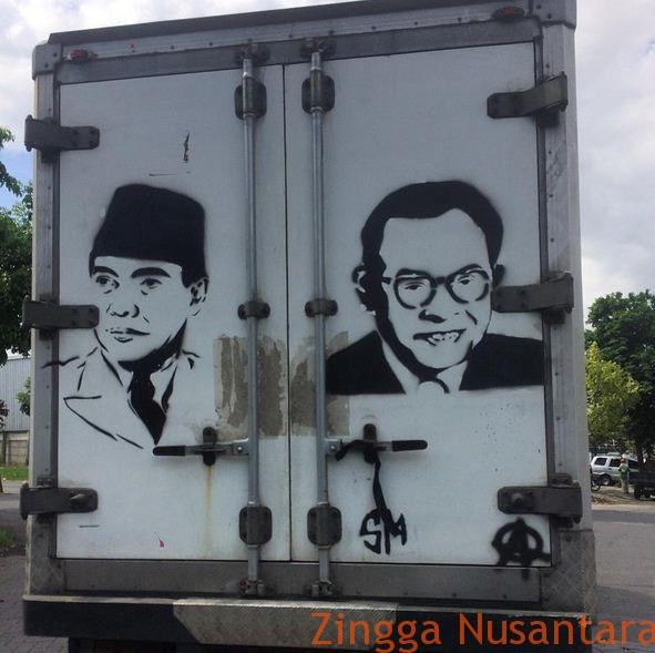 Mobil Nasionalis dengan gambar Soekarno - Hatta