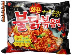 Mie Samyang yang sempat menjadi primadona sebelum ada isu bahwa ada makanan asal korea ini mengandung babi