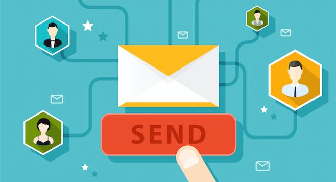 Illustration by hostingpill   email marketing dan landing page