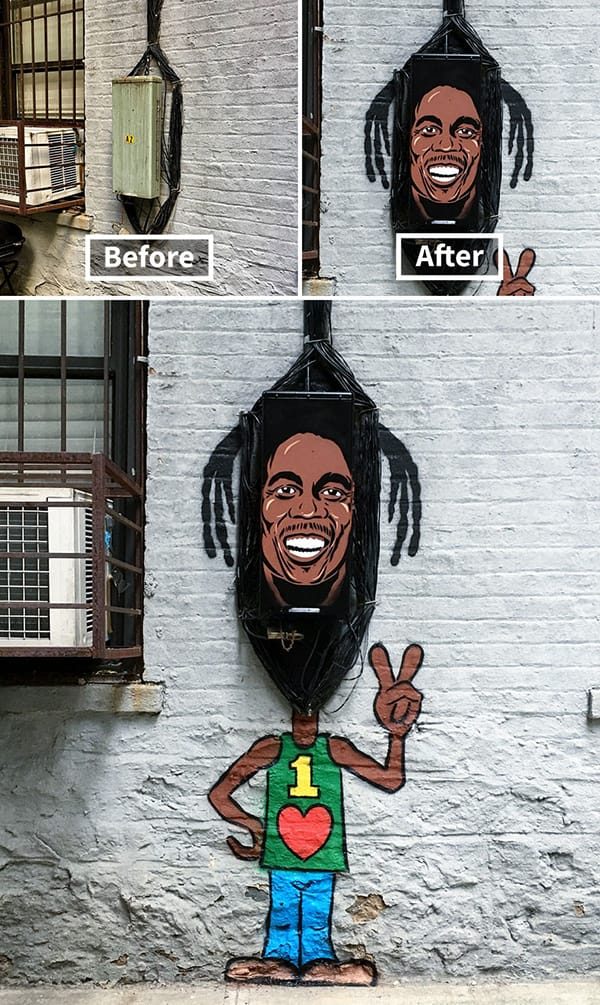 Kumpulan karya street art seniman New York, Tom Bob, yg gak kepikiran oleh awam