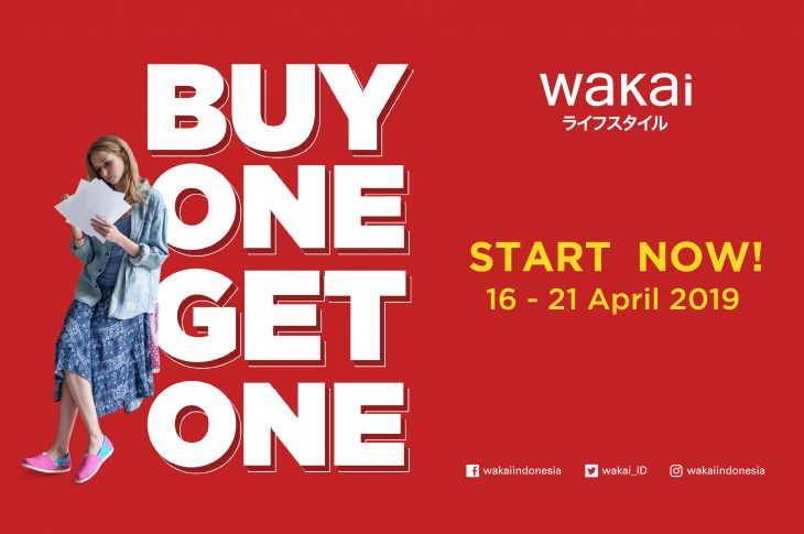Wakai Gelar Promo Buy One Get One