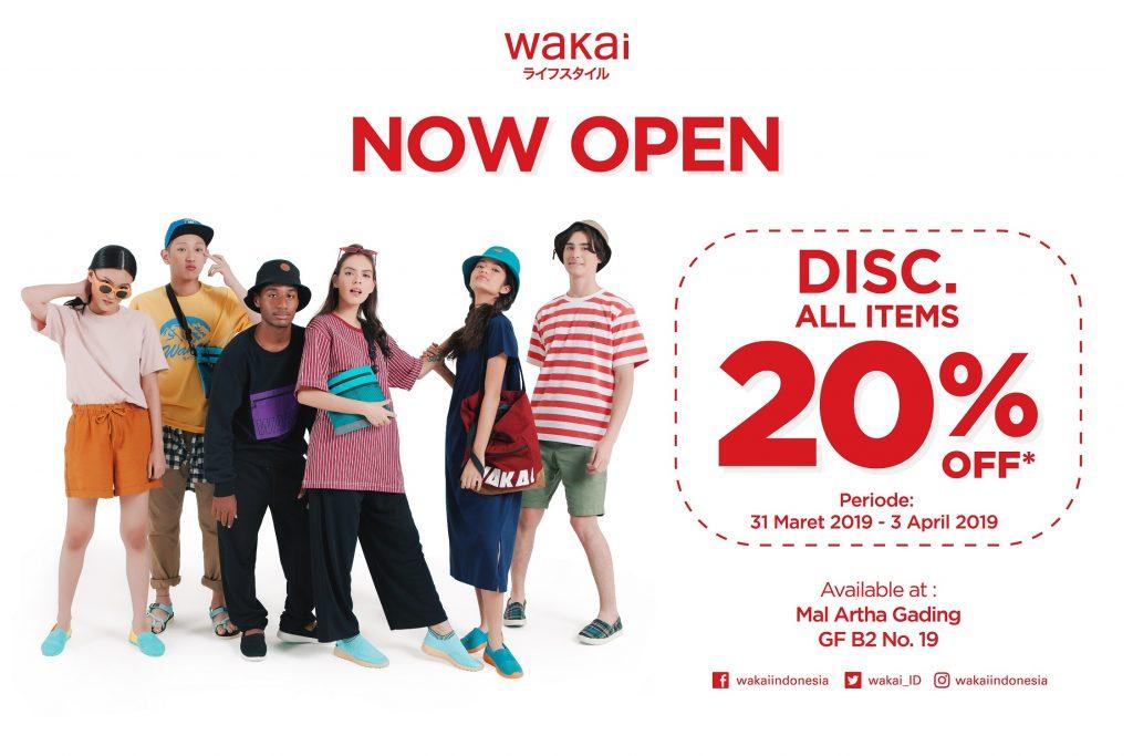 Wakai membuka gerai baru di Mal Artha Gading.