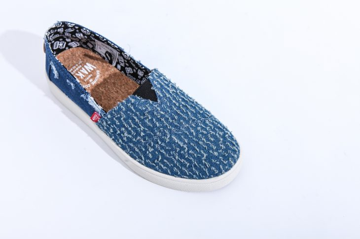 Wakai Hashigo Boro Damaged Navy