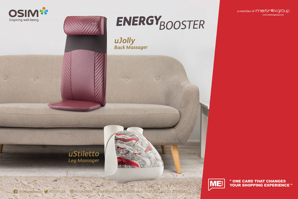 Energy Booster Package produk unggulan OSIM