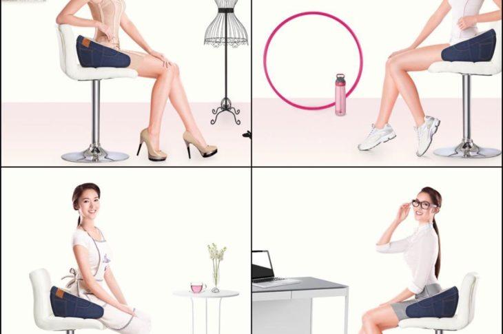 Alat pijat berteknologi tinggi yang memiliki fokus pada tiga bagian belakang tubuh