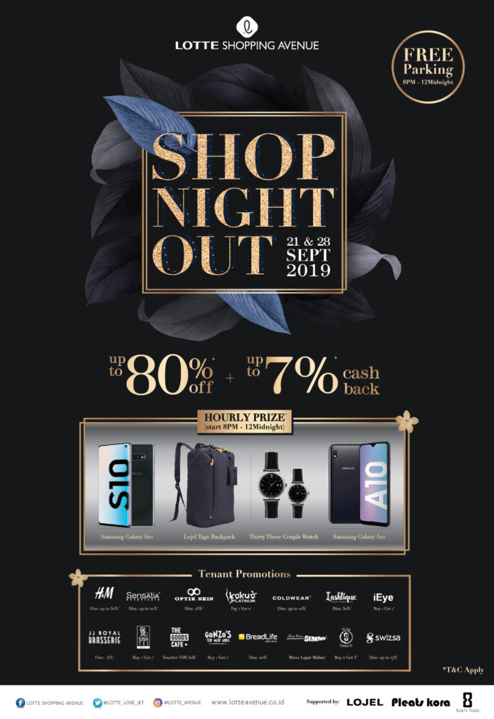 Shop Night Out Berikan Diskon 80% di Lotte Shopping Avenue