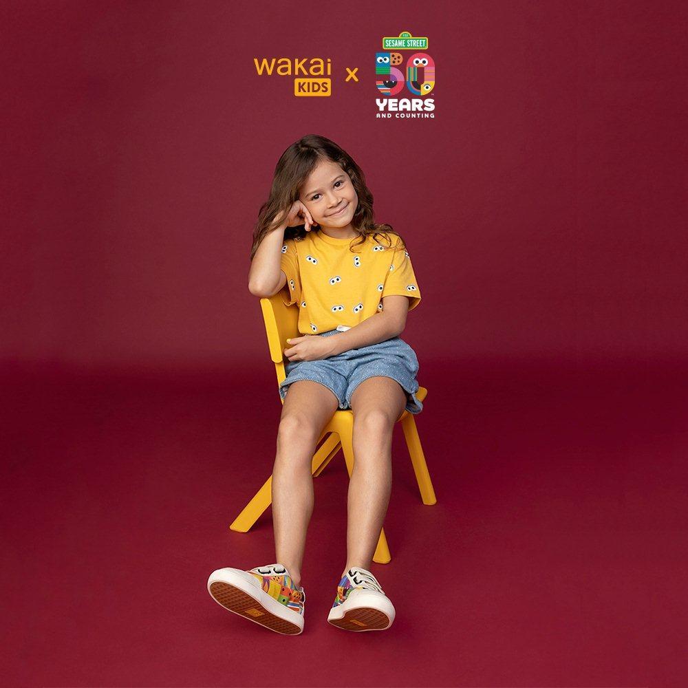 Koleksi kolaborasi Wakai Kids X Sesame Street.