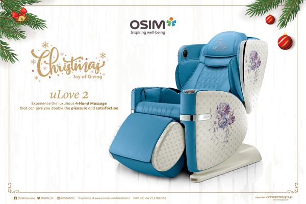 OSIM menghadirkan kursi pijat berteknologi tinggi, uLove 2 Massage Chair.