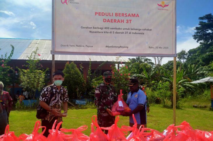Donasi Sembako Nusantara di Kab Nabire