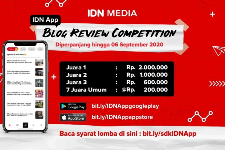 Lomba Menulis Blog Review dari IDN Media IDN App