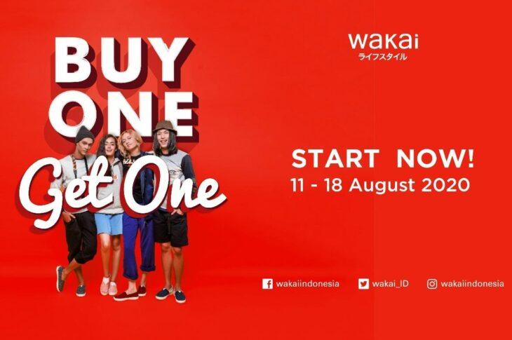 Promo Kemerdekaan 'Buy One Get One' bisa dinikmati di seluruh gerai Wakai di Indonesia.