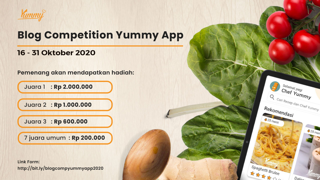 Blog Competition Yummy App October 2020