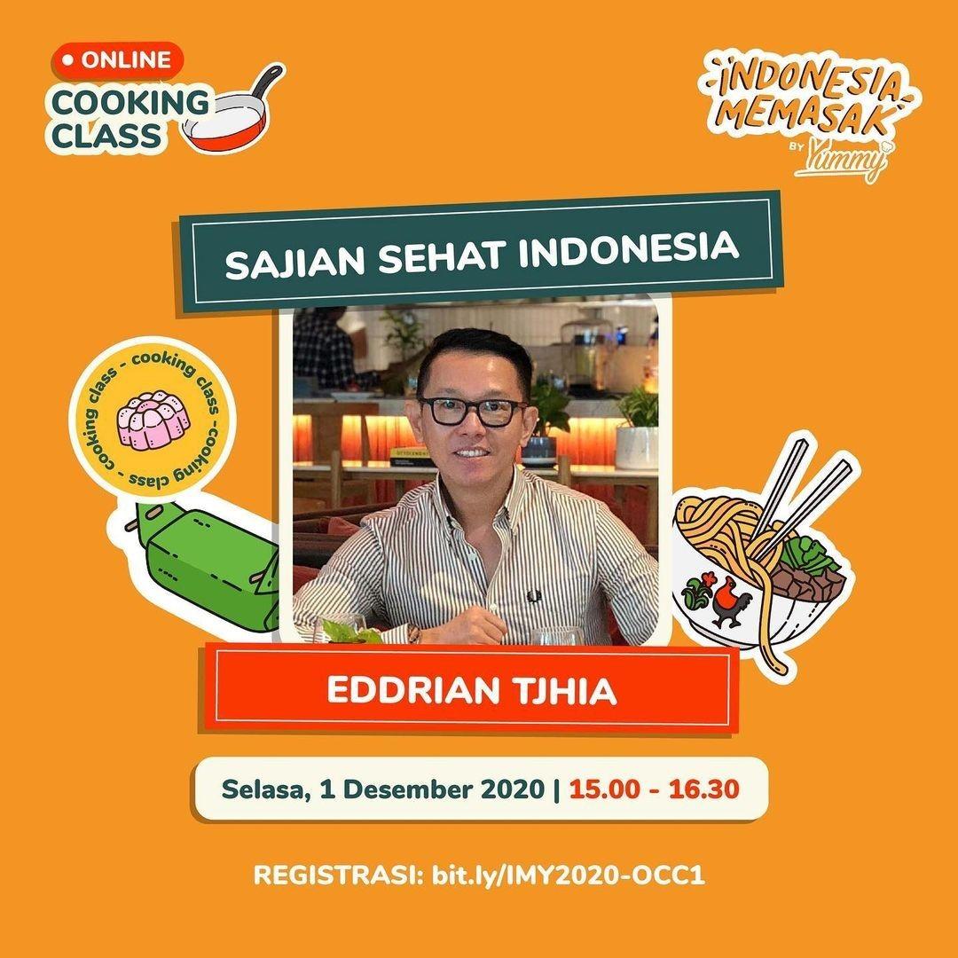 Online Cooking Class Sajian Sehat Indonesia bersama Eddrian Tjhia